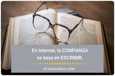 En Internet, la #confianza se basa en #escribir. #redacción #redactoradigital #redactora #redactores #blogstoryfriendly #inboundmarketing #marketingdecontenidos #contenidos #textos