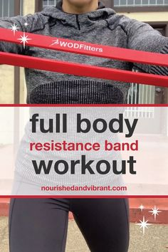 No weights? No problem! This full body resistance band workout features six effective strength exercises that target your major muscle groups and get your heart rate up. The only equipment needed for this workout circuit is a resistance band, making it perfect for an at-home or on-the-road workout.