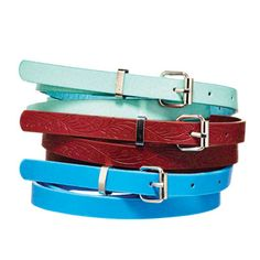 50 Under $50: Summer Style Special.  Best of luck deciding which of these belts--you get three for under $9--to wear. Belt trio, $8.10; gojane.com.