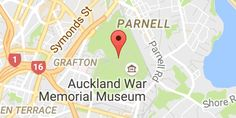Map of Auckland Domain