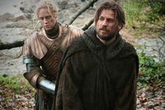 Jaime Lannister y Brienne de Tarth de Juego de tronos.