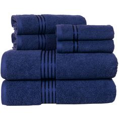 Cambridge Home Hotel 6-pc. Egyptian Cotton Bath Towel Set ($80) ❤ liked on Polyvore featuring home, bed & bath, bath, bath towels, egyptian cotton bath towels and egyptian cotton hand towels