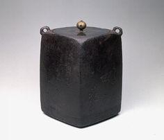 Square Iron Tea Kettle, known as TOMAYA by Onishi Josei, Edo period, 17 century.