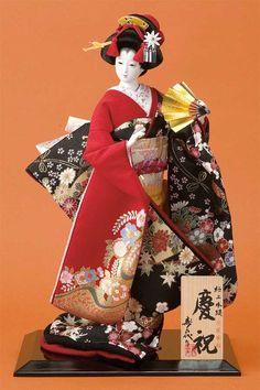 Japanese Geisha, Japanese Kimono, Vintage Japanese, Japanese Art, Japanese Doll, Fabric Dolls, Paper Dolls, Art Dolls, Origami
