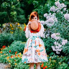 garden party look up on the blog now wearing @mylittlebelleville skirt #ootd #girlswithflowers