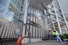 As part of our exciting Newcastle United FC sponsorship, we've fully restored and reintroduced the huge iron gates to Barrack Road. These gates have a significant historic impact, and were used to welcome people in to St. James' Park's between 1989 and 1999.