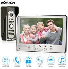 KKmoon. Video Door Phone System. Видео домофон 7 дюймов TFT LCD. Проводной видео-телефон, звонок двери с водонепроницаемой уличной ИК-камерой, ночного видения.