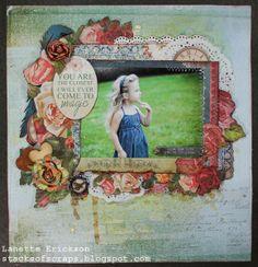 Key to my Heart -Kaisercraft Key To My Heart, My Scrapbook, Mixed Media Canvas, Embellishments, Magic, Crafty, Young Children, Scrapbooking Ideas, Frame
