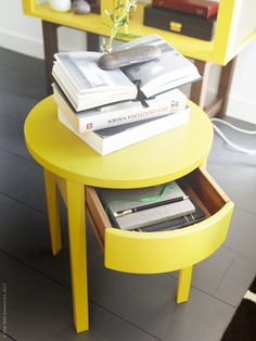 Add color to your bedroom with the yellow stockholm nightstand with new ikea stockholm collection the perfect nightstand or side table watchthetrailerfo
