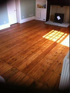 After picture - Pine floor board sanding, filling and finishing in Cambridge ~ Art of Clean - UK - 01223 863632