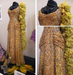 Designed by Irene Sharaff; worn by Barbra Streisand in the Harmonia Gardens scene of Hello Dolly (1969).