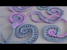 Crochet Freeform Flower Tutorial 2 Part 2 of 2 Scrumbling Freeform Crochet - YouTube