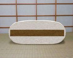 Futon 8x couches de coton + 4 cm de fibres de noix-de-coco latexée au centre pour un meilleur confort et élasticité. Fibres, Couches, Centre, Plates, Tableware, Cotton, Licence Plates, Dishes, Dinnerware