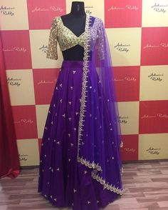 This ensemble is an absolute beauty From pastels to darker hues.. choose your best! ashwinireddy arbride purple green bridal pearl sequin embroidery desi 06 November 2016