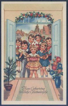 Geburtstagskarte ( K01230 ), Briefmarken-Versand-Welt - Briefmarken, Ansichtskarten und mehr