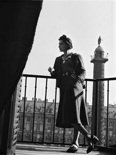 Coco Chanel at Place Vendôme in 1937 by Roger Schall