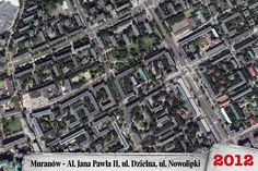 Year 2012 - aerial view over Muranow - the former Jewish quarter in Warsaw, Poland