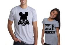 Funny Father's Day gift Daddys little princess Adorable Father and Daughter Star Wars Darth Vader T Shirts
