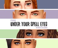 Pyxiidis 'Under Your Spell' Eyes, In Digitalangels Colours ~ apolune sims Sims 4 Cc Eyes, Sims 4 Mm Cc, Sims 1, Maxis, Clare Siobhan, The Sims 4 Skin, Under Your Spell, Sims Games, Sims 4 Cas