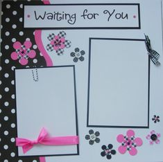 Hey, I found this really awesome Etsy listing at https://www.etsy.com/listing/66622779/waiting-for-you-12x12-premade-scrapbook