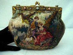 Vintage Petit Point Tapestry Purse.  Very sweet.    -blog.yahoo.com