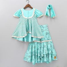 Pre Order: Check Peplum Style Top And Sharara Stylish Dresses For Girls, Frocks For Girls, Little Girl Dresses, Girls Dresses, Baby Dresses, Club Dresses, Baby Frocks Designs, Kids Frocks Design, Sharara Designs