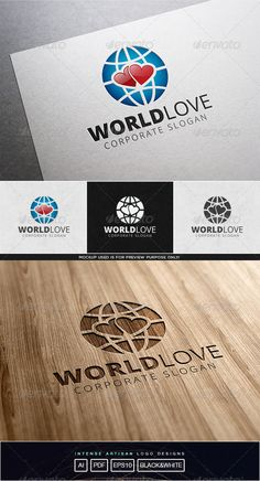 WE ENCOURAGE YOU TO VISIT HUNDRETH¡¯S OF OUR HI-QUALITY LOGOS!........FOR ONLY$29WORLD LOVE LOGO TEMPLATEFEATURES:  100 RESIZABLE/SCALABLE VECTORORGANIZED GROUP/LAYERS/NAMED PRIMARY LOGO   BLACK & WHITE INCLUDED PRINT READY  FILE INCLUDED:  AI / EPS10 /PDF FONT USED:  Open Sans ¨C http://www.fontsquirrel.com/fonts/open-sans  If you l