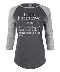 Athletic Heather & Charcoal Book Hangover Raglan Tee   zulily