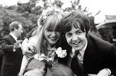 tumblr:  Paul and Jane at the wedding of Paul's brother Michael.  June 8, 1968....