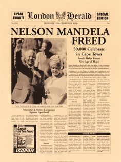 This Day in History:  Feb 11, 1990: Nelson Mandela released from prison