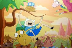 Commercial mural for the teen's room. With all respect and love to Pendleton Ward, Dan James and Co.