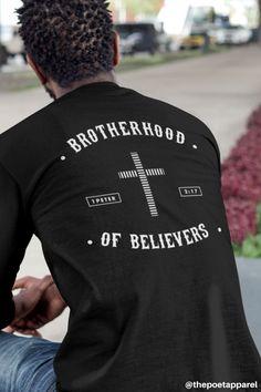 Brotherhood of Believers Christian Tees, Christian Clothing, Christian Gifts, Christian Apparel, Faith Verses, Bible Verses, Hope Scripture, City Vibe, 1 Peter