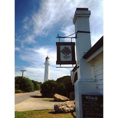 Willows Teahouse and Split Point Lighthouse Aireys Inlet. #splitpointlighthouse #aireysinlet #greatoceanroad #visitgreatoceanroad #victoria #visitvictoria #australia #seeaustralia #australianlandscapes #apairofpearsdownunder by nadinemariewarburton http://ift.tt/1PI0pio
