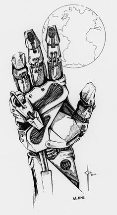 Robot Concept Art, Armor Concept, Art Reference Poses, Drawing Reference, Drawing Sketches, Art Drawings, Cyberpunk Kunst, Robots Drawing, Robot Hand