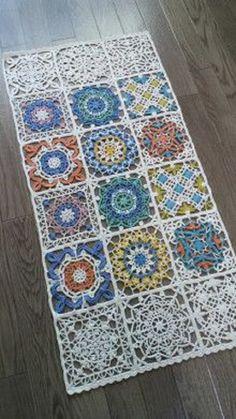 Простая форма плюс фантазия: невероятные возможности «бабушкиного квадрата» - Ярмарка Мастеров - ручная работа, handmade