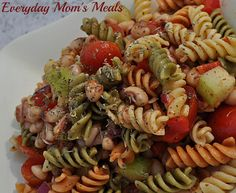 ~Black Eyed Pea Pasta Salad~ A light, fresh pasta salad full of fresh veggies and a zesty dressing, perfect for summer grilling season!