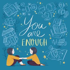 You are enough on Behance Illustrations, Illustration Artists, Illustration Girl, Kindergarten Drawing, Kids Study, You Are Enough, Behance, Book People, Atelier