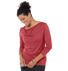 Women's Espressivo Long Sleeve Shirt ~ Modal & Organic Cotton Top by Horny Toad ~ Horny Toad Activewear