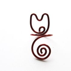 Cat ring  cat jewelry  copper wire wrapping  for cat by Gatatuca