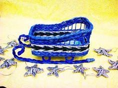 31 Tutoriales. Como tejer los adornos navidenos de papel reciclado. Parte 3. - YouTube