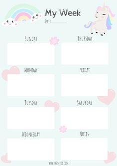 Get Organized! FREE Printable Unicorn Calendar Pages - SheSaved®