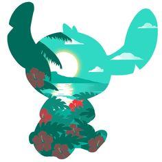 Island Stitch T-Shirt Disney TeeTurtle