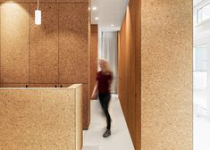 Swiss studio Dost has transformed a restaurant into a heart treatment centre in Zurich, featuring cork-lined cubicles and waiting rooms Zurich, Architecture Design, Cabinet Medical, Cork Tiles, Cork Flooring, Waiting Rooms, Crib Mattress, Cool House Designs, Architects