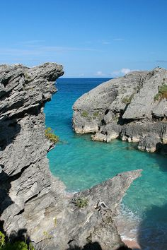 Caribbean coast at Warwick Long Bay, Bermuda (by Max Kehrli).