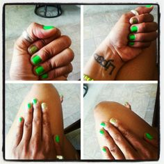 Green nails ♡ HAPPY St. PATRICK MONTH!!!