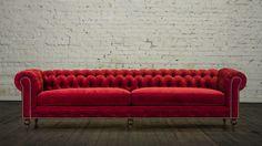 red velvet chesterfield sofa - Google Search