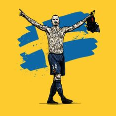 ESPN feature illustrations for web based article on Swedish Legend Zlatan Ibrahimovic Football Icon, Football Art, Football Memes, Zlatan Psg, Ronaldo Juventus, Coco Costume, Football Player Drawing, Tiger Wallpaper, Leonel Messi