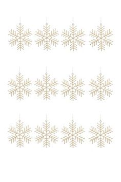 Large Snowflake Ornaments - Set of 12