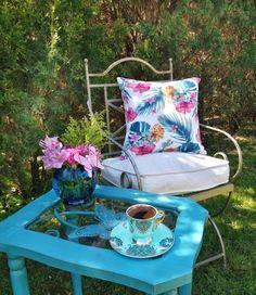 HACER Coffee Time, Tea Time, Breakfast Tea, Bunch Of Flowers, Turkish Coffee, Beautiful Day, Brewing, Backyard, Cozy