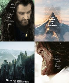 But still the sunken stars appear In dark and windless Mirrormere; There lies his crown in water deep, Till Durin wakes again from sleep. (Richard Armitage as Thorin)